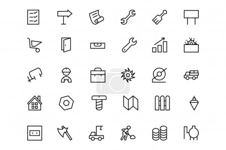 Construction Vector Line  Icons 4