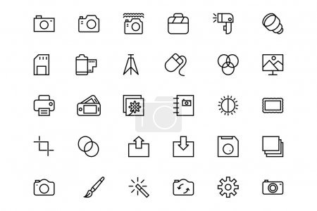Photography Vector Line Icons 1