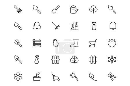Gardening Line Vector Icons 4
