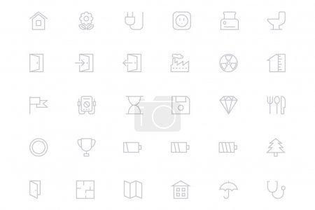 Universal Mobile Vector Line Icons 9