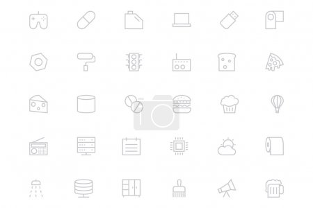 Universal Mobile Vector Line Icons 15