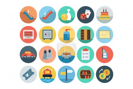 Hotel and Restaurant Flat Colored Icons 7