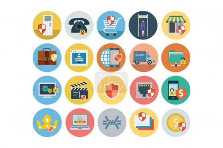 Security Flat Colored Icons 3