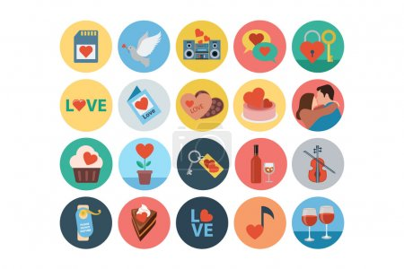 Love and Romance Flat Colored Icons 4