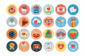 Love and Romance Flat Colored Icons 1