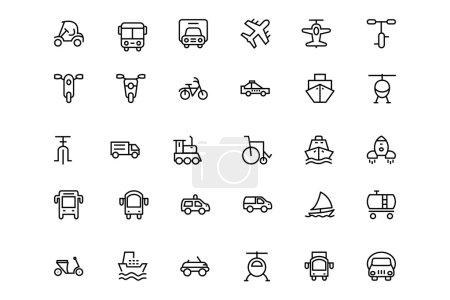 Transportation Vector Line Icons 2