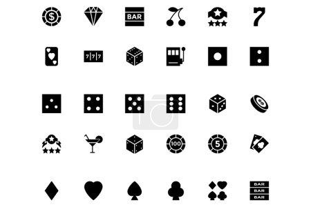 Casino and Gambling Vector Icons 1