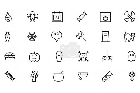Halloween Vector Line Icons 1