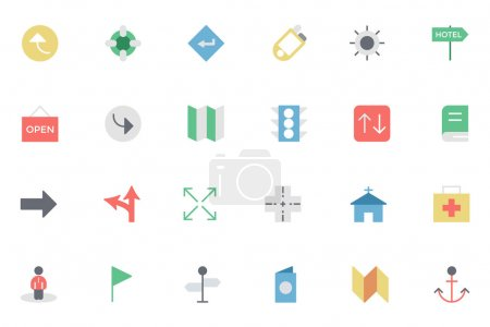 Map and Navigation Colored Icons 5