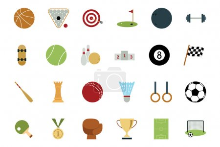 Sports and Games Colored Icons 1