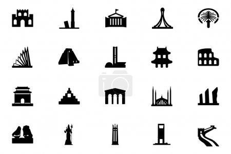Monuments Vector Icons 4