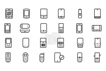 Mobile Vector Line Icons 2