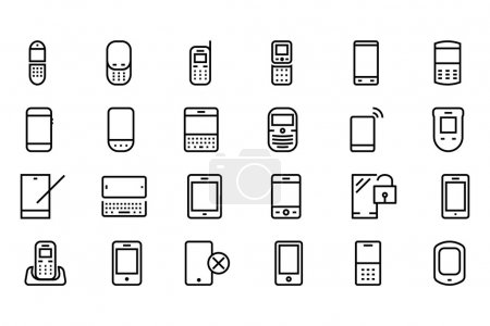 Mobile Vector Line Icons 1