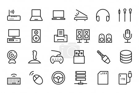 Computer Hardware Vector Line Icons 2