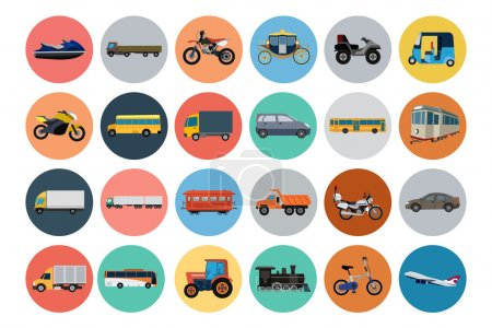 Flat Transport Icons 4