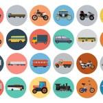 Постер, плакат: Flat Transport Icons 4