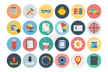 Office Flat Icons 3