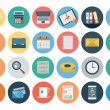 Set of office flat colored icons,...