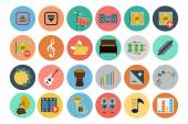 Get ready for your next project with Multimedia Icons Set! You will find that these Icons to use for multimedia and musical instruments graphics for posters and concert flyers