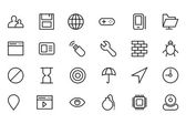 Internet Vector Line Icons 3