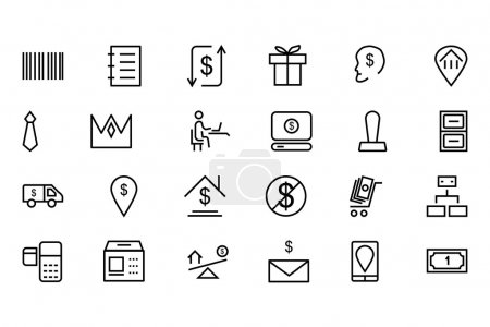 Illustration for Everyone need money to pay for products and services when you can't pay with bank card. Use this money icons pack for your currency related design work. - Royalty Free Image