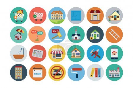 Flat Real Estate Vector Icons 2