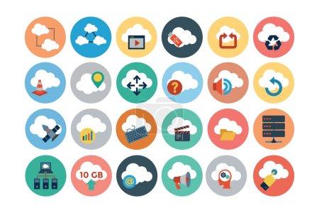 Cloud Computing Flat Vector Icons 3