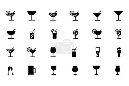 Illustration pour On est vendredi ? Quel que soit le jour, fêtez ça avec ces icônes vectorielles des boissons ! Inclus dans ce pack sont des vecteurs impressionnants de boissons et de boissons. Vous allez adorer ces vecteurs de boissons dans votre prochain projet . - image libre de droit