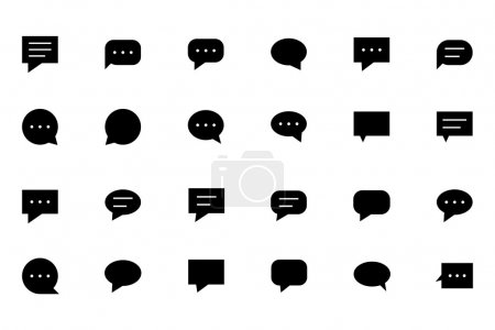 Illustration for Check out this Chat Messages Vector Icons. Perfect for all kinds of chatting, talking, conversations, comments and communication projects. - Royalty Free Image