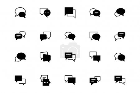 Chat Massages Vector Icons 3