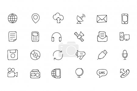 Communication Hand Drawn Vector Icons 1