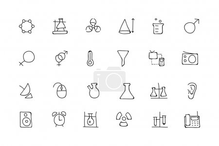 Science Hand Drawn Doodle Icons 3