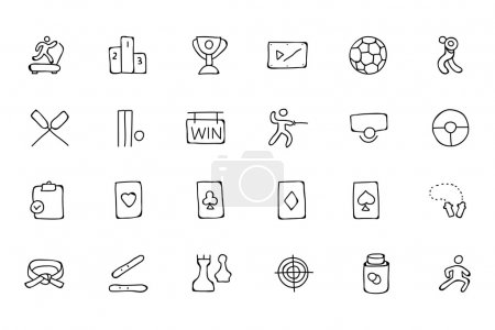 Sports Hand Drawn Doodle Icons 4
