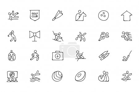 Sports Hand Drawn Doodle Icons 7