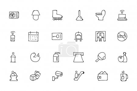 Hotel and Restaurant Doodle Icons 3