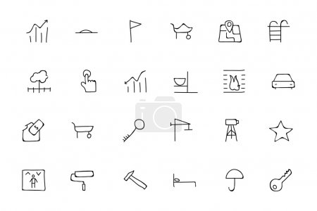 Real Estate Hand Drawn Doodle Icons 4