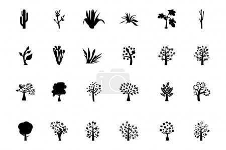Trees Vector Icons 4