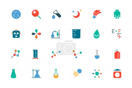 Science Colored Vector Icons 5