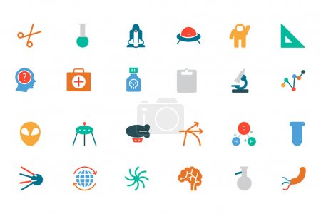 Science Colored Vector Icons 4