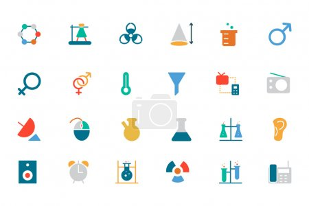 Science Colored Vector Icons 3