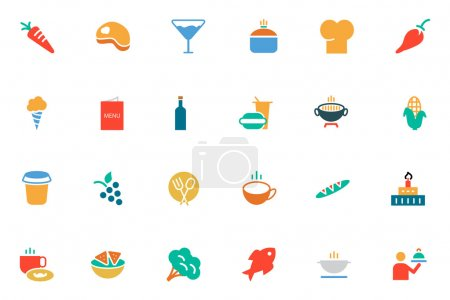 Food and Drinks Vector Colored Icons 2