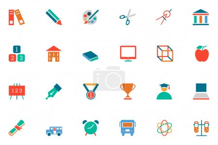 Education Colored Vector Icons 10