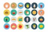 """Постер, картина, фотообои """"Еда плоский векторные иконки 3"""""""