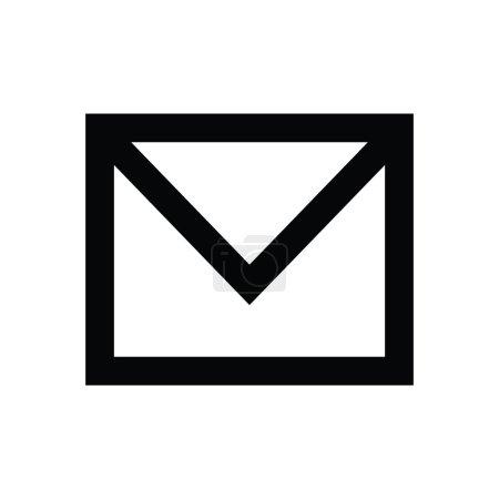 Illustration pour Icône vectorielle e-mail pour la technologie, la correspondance, la communication, les réseaux sociaux, les messages et les visuels Web , - image libre de droit