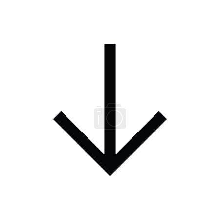 Down Arrow Vector Icon