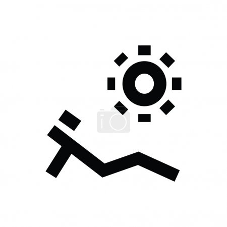 Sunbathing Vector Icon