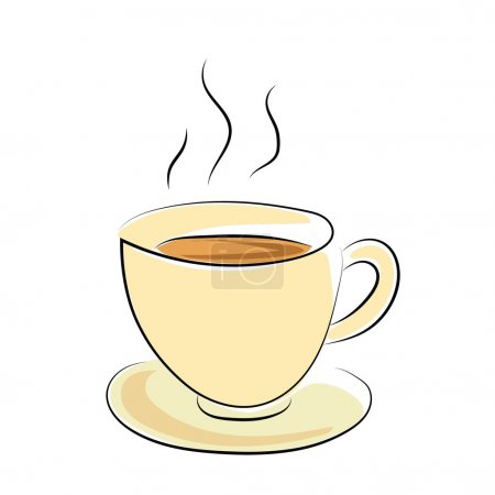 Coffee Cup Sketchy Colored Vector Icon
