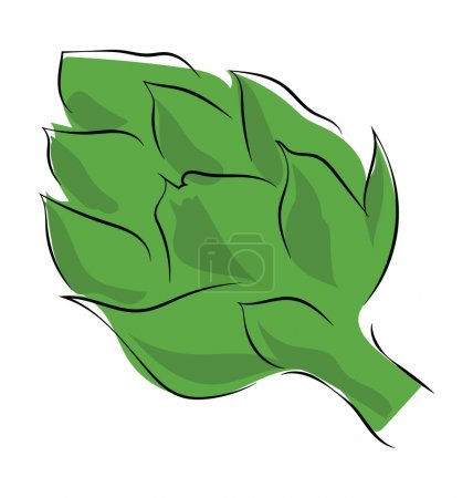 Artichoke Hand Drawn Colored Vector Icon