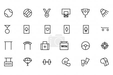 Sports Outline Vector Icons 5