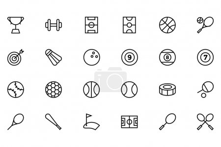 Sports Outline Vector Icons 1